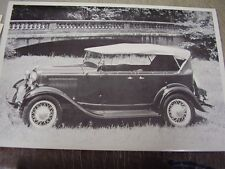 1932 FORD PHEATON TOP UP   12 X 18  LARGE PICTURE  PHOTO