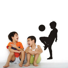 Fashion Playing Soccer Wall Stickers Wall Art Decals Children Nursery Room Decor