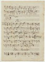 MAZURKA Polka NOTEN Musik Handschrift Original Notenblatt um 1790 Walzer Tanz
