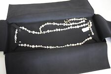 NEW in Box AUTHENTIC  CHANEL PEARL Pearls BELT NECKLACE CC GOLD Black White 80