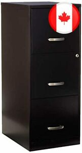 Lorell 18573 3-Drawer Mobile File Cabinet, 18-Inch
