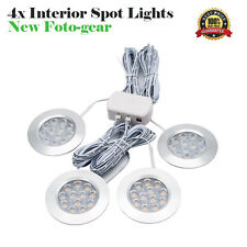 4x 12V Interior LED Spot Light For Camper Van Caravan Motorhome Boat Light UK