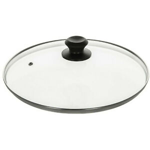 NEW REPLACEMENT VENTED FRYING FRY PAN SAUCEPAN CASSEROLE GLASS LID COVER 28CM