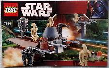 Lego Bauanleitung für 7654 Droids Battle Pack Neu