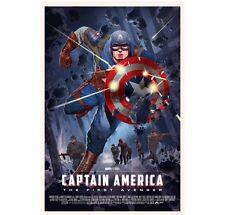 CAPTAIN AMERICA MONDO Stan & Vince Poster Print #/350 First Avenger SDCC 2016
