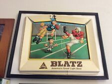 🏈🏈🏈🏈🏈VTG BEER ADVERTISING BLATZ &  FOOTBALL PLAYERS ACTION,