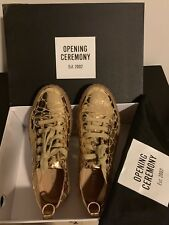 Opening Ceremony Mina Logo Sneakers, Gold, 37 Size.