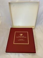 1969 Franklin Mint States Of The Union Series First Edition Bronze Proof Set
