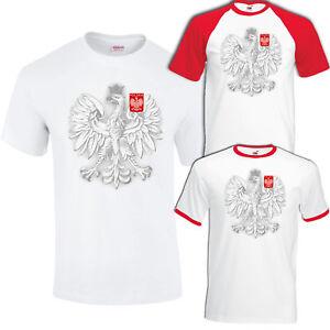 Poland Polska Eagle Football Supporter World Cup Euros Koszulka T-Shirt