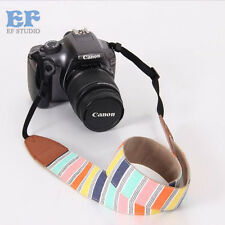 Hot Fashion Camera Neck Shoulder Strap Stripe Belt for Film SLR DSLR RF Digital