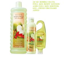 Natural Limited Edition Fresh Orchard Apple Bubble Bath Body Lotion Shower Gel