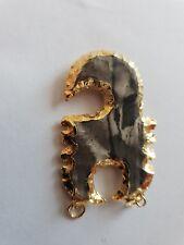 Gold Plated Agate Indian  Arrowhead Jasper Navajo