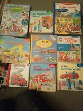 9 tolle Kinder Bücher , Feuerwehr, Baustelle, Fahrzeuge, ab 4 J.
