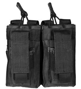 VISM Double Rifle Magazine Pouch w/ Pistol Mag Pouch MOLLE Tactical Hunt BLK~