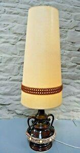 Vintage / Retro Fat Lava West German Floor Lamp with Original Shade. 1970's