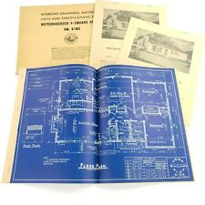 Vintage Architectural Blueprints Mid Century House Residential Drawings Plans #5