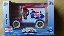 Gearbox Pepsi Cola Keystone Cops 1912 Ford Del. Car Locking Bank LE NEW in Box