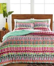 Twin XL Comforter Set Pem America Tribal Aztec Bright Pink Green Orange Dorm
