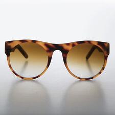 Large Round Unique Vintage Sunglasses Matte Brown - Georgie