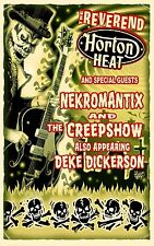 REVEREND HORTON HEAT / NEKROMANTIX / THE CREEPSHOW 2014 CONCERT TOUR POSTER