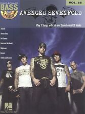 Bass Play-Along Avenged Sevenfold Guitar TAB Learn to Play Music Book CD METAL