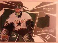 2003-04 UD Black Diamond Threads Jersey Marty Turco Card DT-MT