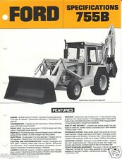 Equipment Brochure - Ford - 755B - Tractor Loader Backhoe - c1980's (Eb377)