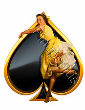 Spade Pinup Girl with Waterslide Decal Great for Guitars S646 by Pinupsplus