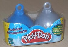 NEW RARE PLAYDOH HOLIDAY CHRISTMAS ORNAMENTS FUN SIZED PLAYDOH CANS 2 PCS. SET