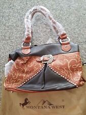 Designer Brown and Tan Buckle  Montana West Purse New W/Tags