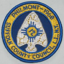 Suffolk Co Council (NY) 1968 Philmont Pocket Patch BSA
