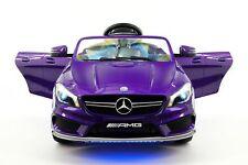 Mercedes CLA45 AMG 12V Kids Ride-On Car with Parental Remote | Purple Metallic