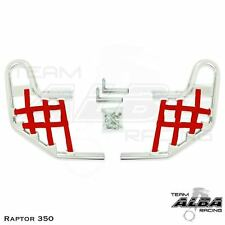 Yamaha  Raptor 350   Nerf Bars   Alba Racing    Silver Red 209 T1 SR