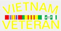 Vietnam Veteran Outside Window Decal Car Window Sticker - Clear