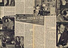 Coupure de presse Clipping 1956 John Wayne  (2 pages)