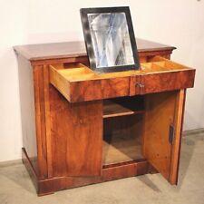 Antique 1825 campaign dressing chest sideboard Vienna Biedermeier walnut inlaid