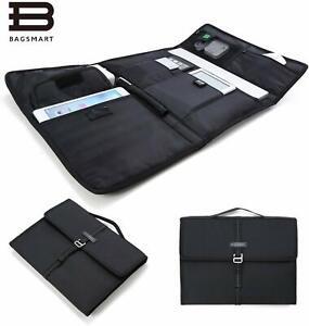 Portable Slim Laptop Briefcase Travel Electronics Case & Laptop Bag for 13'' Mac