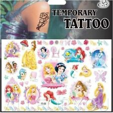 Princess Cinderella Belle Kids Boys Girls Temporary Tattoos Stickers Body Art