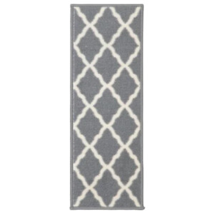Glamour Collection Gray 9 in. x 26 in. Polypropylene Stair Tread Cover (Set of 1