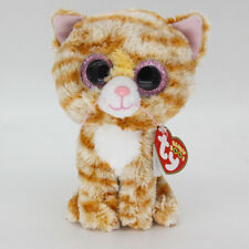 "New 6"" Ty Beanie Boos Tabitha Tabby Cat Stuffed Plush Toys Child Christmas Gift"