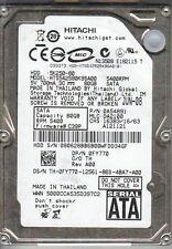 Hitachi 5K250-80 HTS542580K9SA00 80Gb SATA Laptop HDD Fru : 42T1491