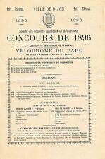 ▬► Programme  Concours Hippique Ville de DIJON  du Samedi 4 Juillet 1896