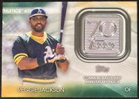 Reggie Jackson Commemorative 70th Anniversary Patch Topps Baseball 2021