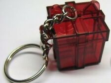 Tupperware Ruby Acrylic Gift Box Keychain - RARE Collectible!!