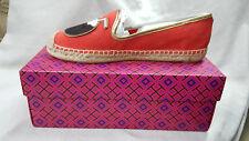 Tory Burch Shoes Samba Gold Coco Espadrill Linen Metallic Size 9.5 agsbeagle