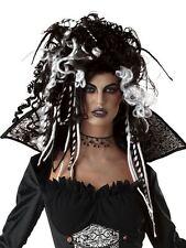 Ladies Black & White Halloween Eternal Seductress Wig Fancy Dress Accessory
