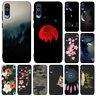 For Samsung A20 A40 A50 A70 A20E Phone Case Painted Slim Silicone Soft TPU Cover