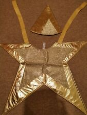 Book Day Children Gold Star Costume Santa Fancy Dress Kids Costume one size