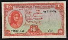 IRELAND 1931 10/ SHILLING IRISH FREE STATE LADY LAVERY BANKNOTE