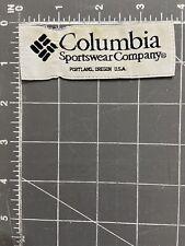 Columbia Sportswear Company Logo Brand Patch Tag Clothing Apparel Portland OR US